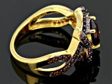 Red Garnet 18k Gold Over Silver Ring 1.67ctw