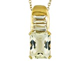 Yellow Labradorite 18k Gold Over Silver Pendant With Chain 3.73ctw