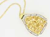 Yellow Citrine 18k Yellow Gold Over Sterling Silver Pendant With Chain 1.98ctw