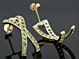 Green Peridot 18k Gold Over Silver Earrings 1.75ctw