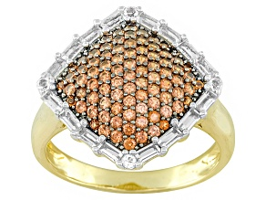 Red Garnet 18k Gold Over Silver Ring 1.41ctw