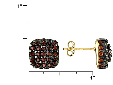 Red Garnet 18k Gold Over Silver Earrings 3.00ctw