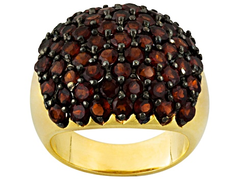 Red Garnet 18k Gold Over Silver Ring 5.30ctw