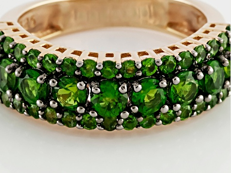 Green Chrome Diopside 18k Yellow Gold Over Sterling Silver Band Ring 1.70ctw