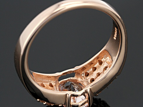 Pink Morganite 18k Rose Gold Over Sterling Silver Ring 1.04ctw