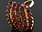 Red Garnet 18k Yellow Gold Over Sterling Silver Ring 3.64ctw