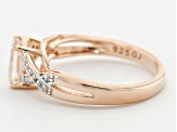 Pink Morganite 18k Rose Gold Over Silver Ring 1.04ctw