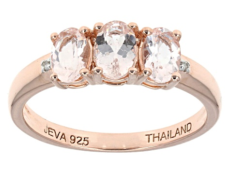 Pink Morganite 18k Rose Gold Over Sterling Silver Ring 1.09ctw