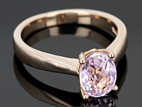Pink Kunzite 18k Rose Gold Over Sterling Silver Ring 2.06ct