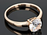 Pink Morganite 18k Rose Gold Over Sterling Silver Ring 1.15ct