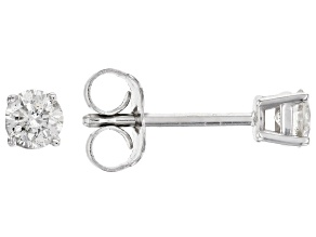 White Diamond 14K White Gold Stud Earrings .25ctw