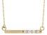 White Diamond 14K Yellow Gold Bar Necklace .15ctw