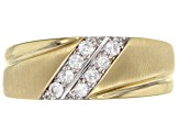 White Diamond 10K Yellow Gold Mens Ring .25ctw