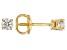 White Diamond 14K Yellow Gold Stud Earrings 0.16ctw