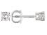 White Diamond 14K White Gold Stud Earrings 0.25ctw