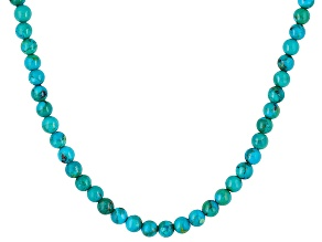 Kingman Turquoise  Sterling Silver Single Strand Necklace