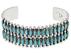 Turquoise Kingman Silver Cuff Bracelet