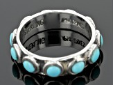 Turquoise Kingman Silver Eternity Band Ring
