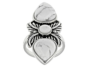 White Magnesite Silver Ring