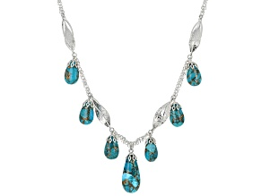 Turquoise Kingman Sterling Silver Necklace
