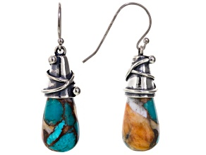 Turquoise Kingman Silver Earrings