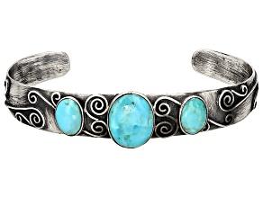 Turquoise Kingman Silver Bracelet