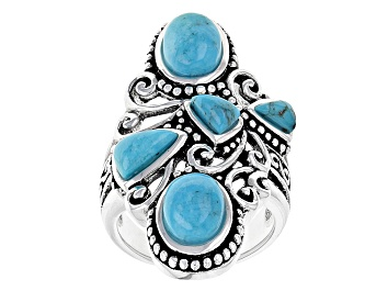Picture of Blue Turquoise Silver Ring