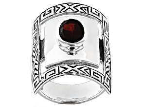 Red Garnet Sterling Silver Ring 1.45ctw
