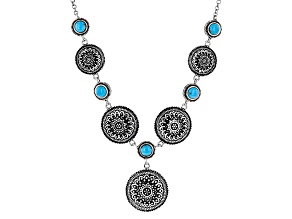 Blue Turquoise Silver Necklace
