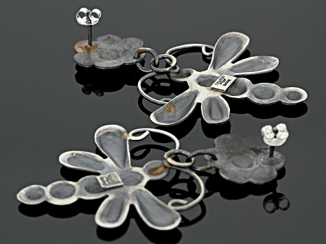 Sterling Silver Dragonfly Dangle Earrings