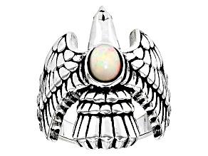 Ethiopian Opal Silver Eagle Ring .43ctw