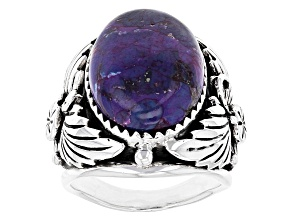 Turquoise Purple Sterling Silver Ring