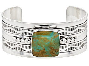 Turquoise Green Sterling Silver Cuff Bracelet