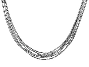 Gray Hematine Sterling Silver Necklace