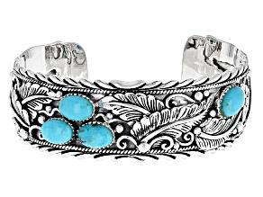 Turquoise Blue Sterling Silver Bracelet