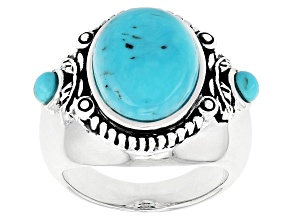 Turquoise Blue Sterling Silver Ring