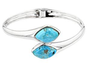 Turquoise Blue Silver Bracelet