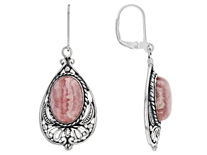 Pink Rhodochrosite Sterling Silver Earrings