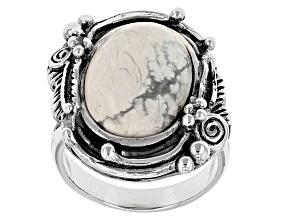 White Magnesite Sterling Silver Ring