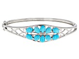 Turquoise Sleeping Beauty Silver Bangle