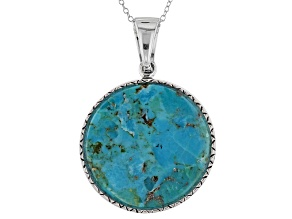 Turquoise Sterling Silver Ehancer With Chain