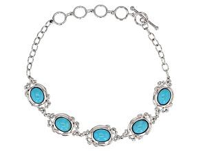 Turquoise Sleeping Beauty Sterling Silver Bracelet