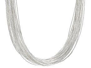 Liquid Silver 40-Strand Necklace