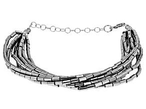 Gray Hematine Sterling Silver Bracelet