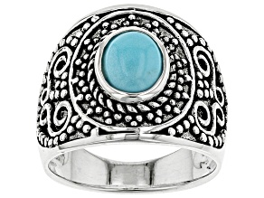 Turquoise sterling silver ring.