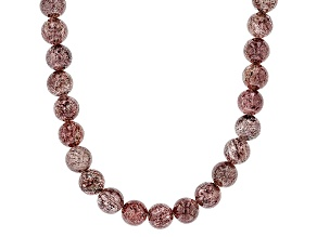 Pink Strawberry Quartz Sterling Silver Necklace