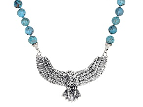 Turquoise Sterling Silver Eagle Necklace