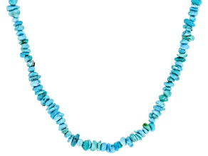 Turquoise Sleeping Beauty Rhodium Over Sterling Silver Necklace