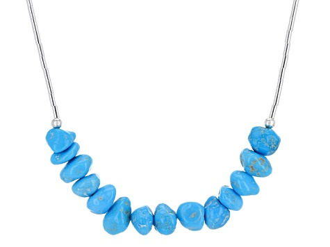 Turquoise Sleeping Beauty Liquid Silver Necklace