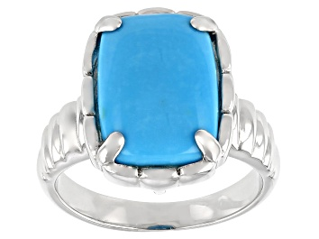 Picture of Turquoise Sleeping Beauty Rhodium Over Silver Ring